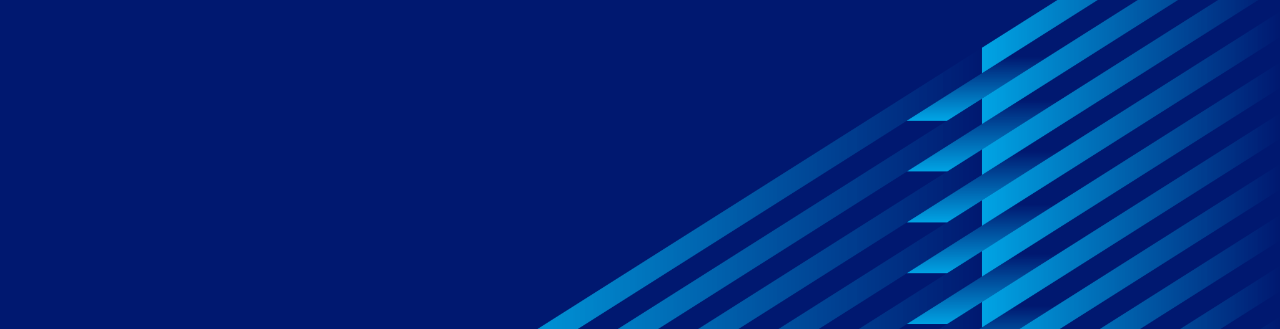 dark blue banner with cyan pattern
