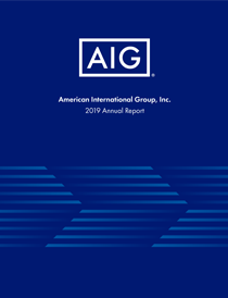 AIG Blue Book Cover 2019 Annual Report