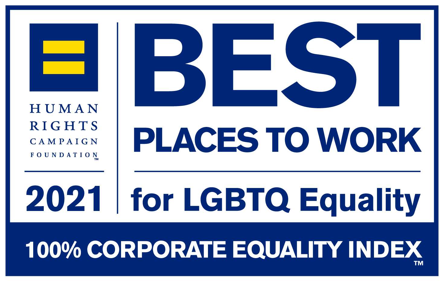 2021 Human Rights Campaign Best Places to Work for LGBTQ Equality