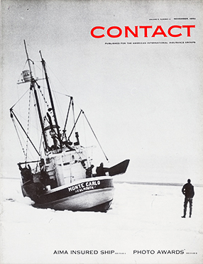 Cover photo of AIG Contact publication featuring the ship, Monte Carlo